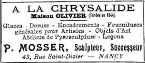 Publicité Mosser